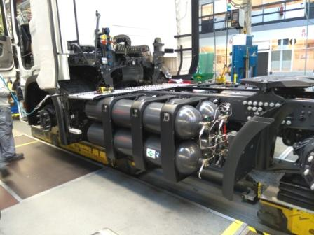 Assembly of the Scania truck for Cylinders Holding.